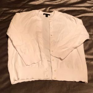 J crew white cardigan